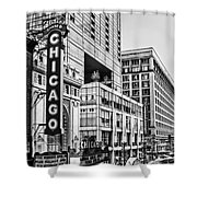Chicago In Black And White Shower Curtain