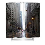 Chicago In The Rain 2 Shower Curtain