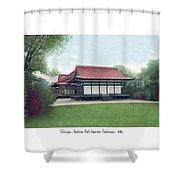 Chicago - Japanese Tea Houses - Jackson Park - 1912 Shower Curtain