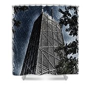 Chicago John Hancock In June Pa 01 Shower Curtain