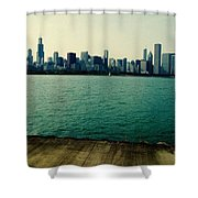 Chicago Lake Michigan Skyline Shower Curtain