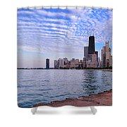 Chicago Lakeshore Shower Curtain