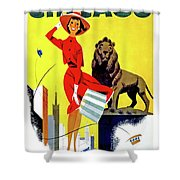 Chicago, Lion, Shopping Woman Shower Curtain