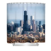 Chicago Looking East 02 Shower Curtain