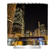 Chicago - Looking East From Dearborn Street Shower Curtain