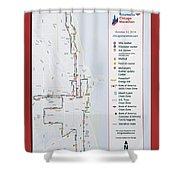 Chicago Marathon Race Day Route Map 2014 Shower Curtain