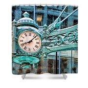 Chicago Marshall Field State Street Clock Shower Curtain