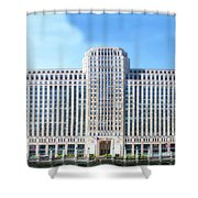Chicago Merchandise Mart South Facade Shower Curtain