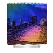 Chicago Millennium Park Bp Bridge Pa 01 Prismatic Shower Curtain
