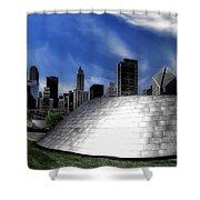 Chicago Millennium Park Bp Bridge Pa 01 Shower Curtain