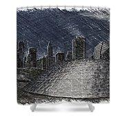 Chicago Millennium Park Bp Bridge Pa 02 Shower Curtain