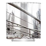 Chicago Monotone II Shower Curtain