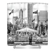 Chicago Nfl Draft Town 2016 Bw Shower Curtain