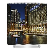 Chicago Night Lights Shower Curtain