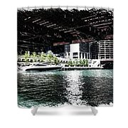 Chicago Parked On The River In June 03 Pa 01 Shower Curtain
