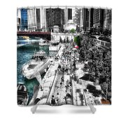 Chicago Parked On The River Walk 03 Sc Shower Curtain