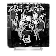 Chicago Prohibition New Years 1927 Shower Curtain