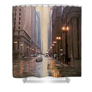 Chicago Rainy Street Shower Curtain