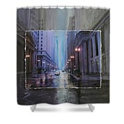 Chicago Rainy Street Expanded Shower Curtain by Anita Burgermeister
