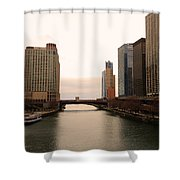 Chicago Rive Shower Curtain