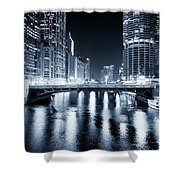 Chicago River At State Street Bridge Shower Curtain