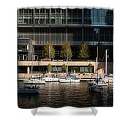 Chicago River Boats Shower Curtain