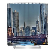 Chicago River East Shower Curtain