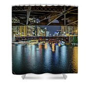 Chicago River Hd Shower Curtain