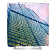 Chicago Sears Willis Tower Pop Art Shower Curtain