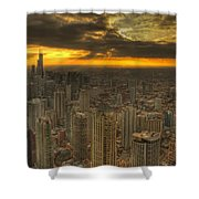 Chicago Setting Shower Curtain