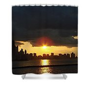 Chicago Silhouette Shower Curtain