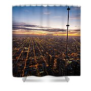 Chicago Skies Shower Curtain