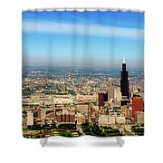Chicago Skyline - 1990s Shower Curtain