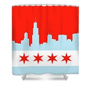 Chicago Skyline 541 1 Shower Curtain
