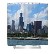 Chicago Skyline 7 Shower Curtain