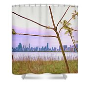 Chicago Skyline - The View From Montrose Point Shower Curtain