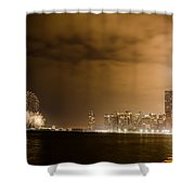 Chicago Skyline Fireworks Finale Shower Curtain by Anthony Doudt