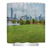 Chicago Skyline From The Southside Shower Curtain