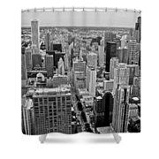 Chicago Skyline Landscape Shower Curtain