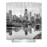 Chicago Skyline - Lincoln Park Shower Curtain