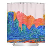 Chicago Spin Shower Curtain