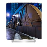 Chicago Steel Bridge Shower Curtain