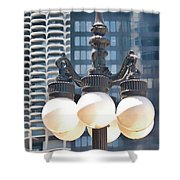 Chicago Street Lamps Shower Curtain