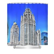 Chicago The Gothic Tribune Tower Shower Curtain