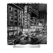 Chicago Theater In Black And White Shower Curtain