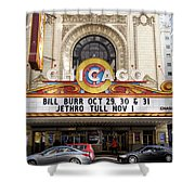 Chicago Theater Marquee Jethro Tull Signage Shower Curtain