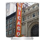 Chicago Theater Sign Shower Curtain