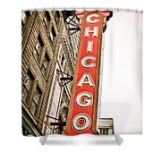 Chicago Theater Sign Marquee Shower Curtain