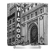 Chicago Theatre Bw Shower Curtain