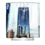 Chicago Under Construction On The River 02 Shower Curtain